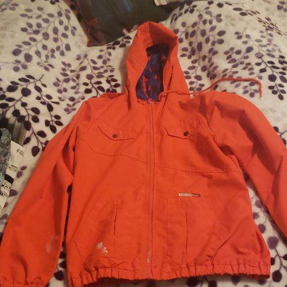 Volcom Jackets & Blazers - Red raincoat.